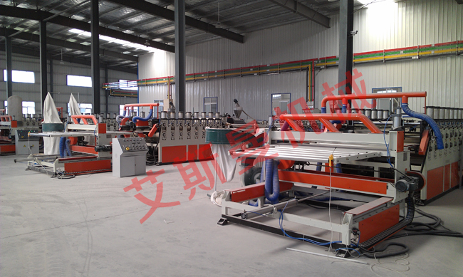 PVC Co-extrusion foamed board production line